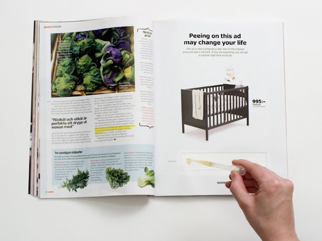 Take a Piss On This Ikea Ad to Find Out If You're Pregnant
