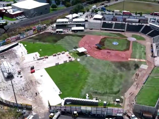 Minor League Stadium Ravaged By The Dreaded Mumford & Sons