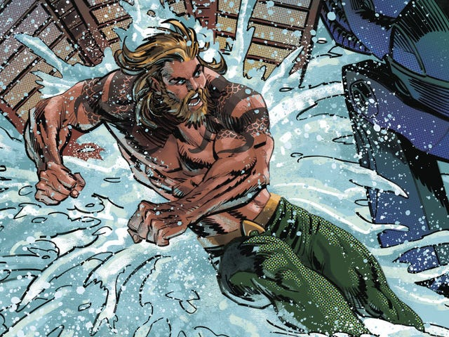 Mecha Manta lets loose on Amnesty Bay in this Aquaman exclusive
