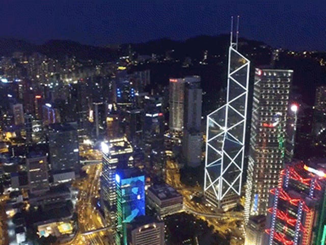 Este video de Drone de Hong Kong es realmente espectacular
