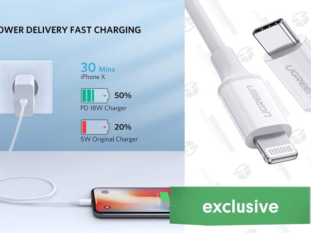 It Didn't Take Long For Fast-Charge iPhone Cables to Get Cheap: Here's One For $6