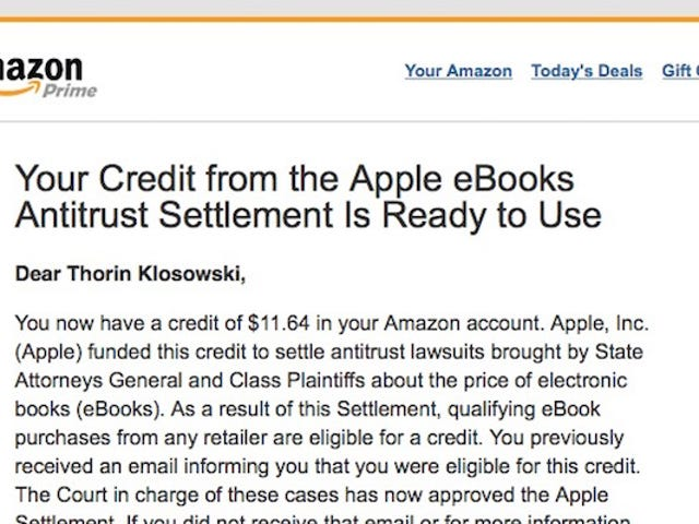 Apple Begins Paying Out on Ebook Settlement, Check Your Amazon Account For Credits