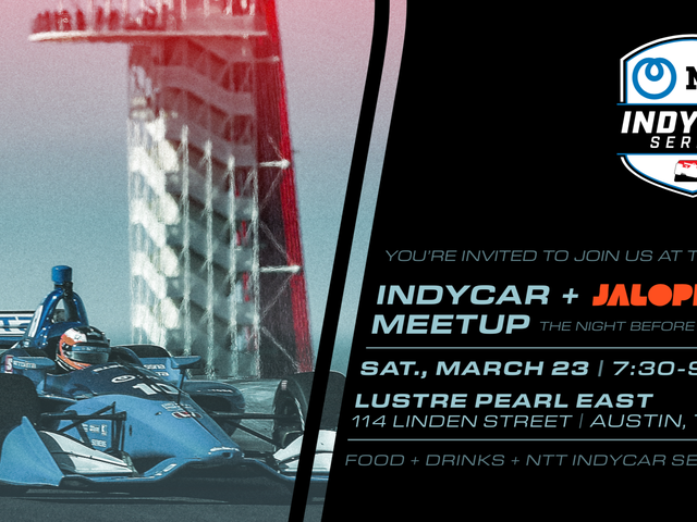 Come Hang Out With Jalopnik and IndyCar This Saturday Night Before the Race in Austin
