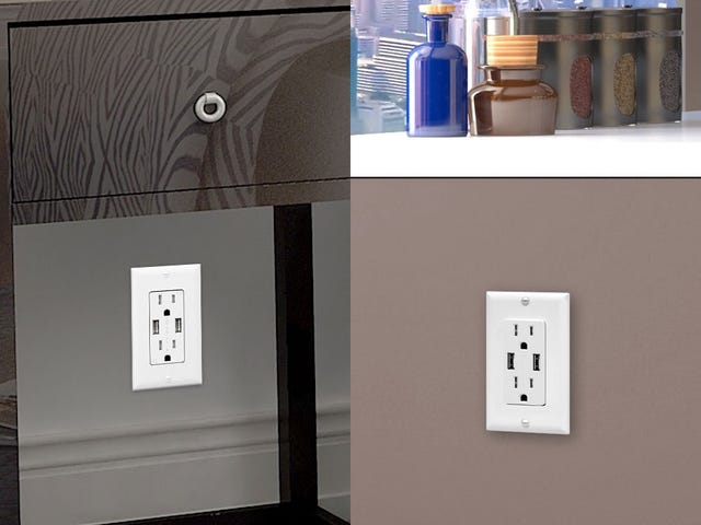 (Carefully) Add USB Ports To Two Power Receptacles For Just $20