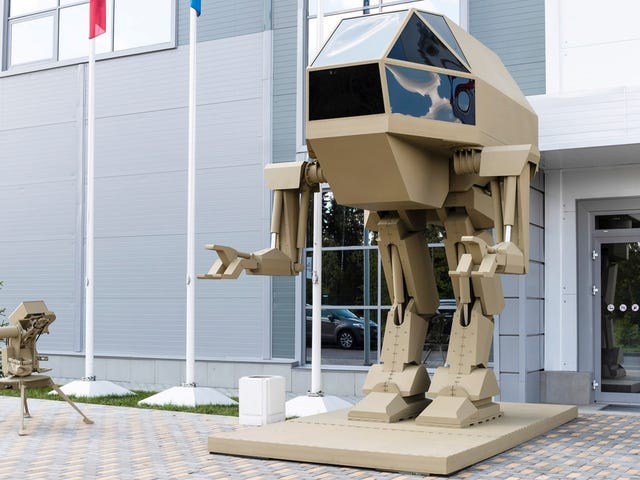 Russian Arms Maker Reveals Mecha 'Concept' That Looks Suspiciously Like a Giant Robot Statue