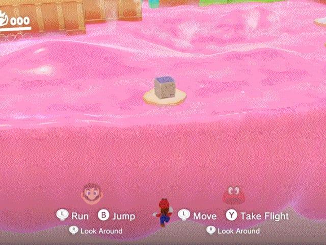 <i>Mario Odyssey</i>の肉のスキップは、無慈悲なゲームをだますことができないという話です <em></em>