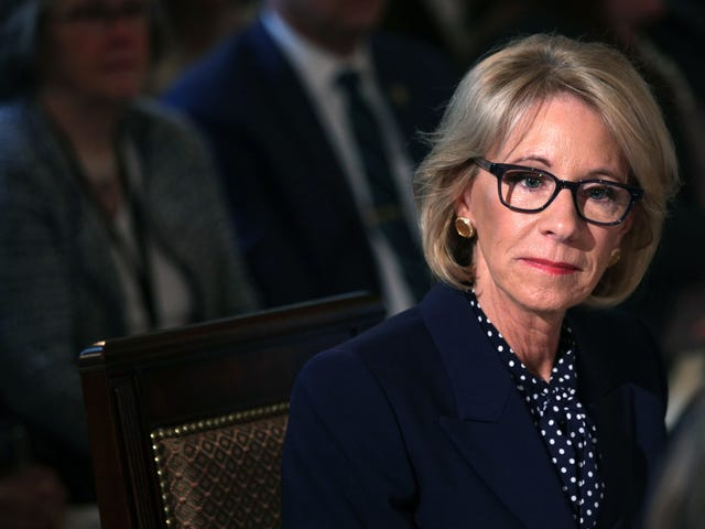 Betsy DeVos Defends Proposed Budget Cuts Gutting the Special Olympics