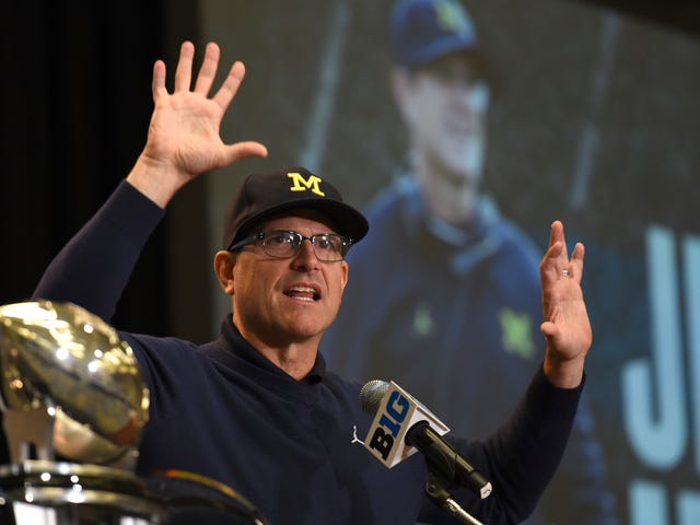 Jim Harbaugh And Jim McElwain Are In A Very Silly Standoff