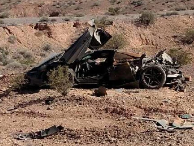 Nevada Cops Find $300,000 McLaren 720S Crashed In The Desert With No Owner In Sight