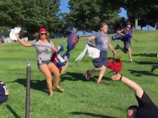 Y ahora, la carrera anual de los fanáticos de los Patriots