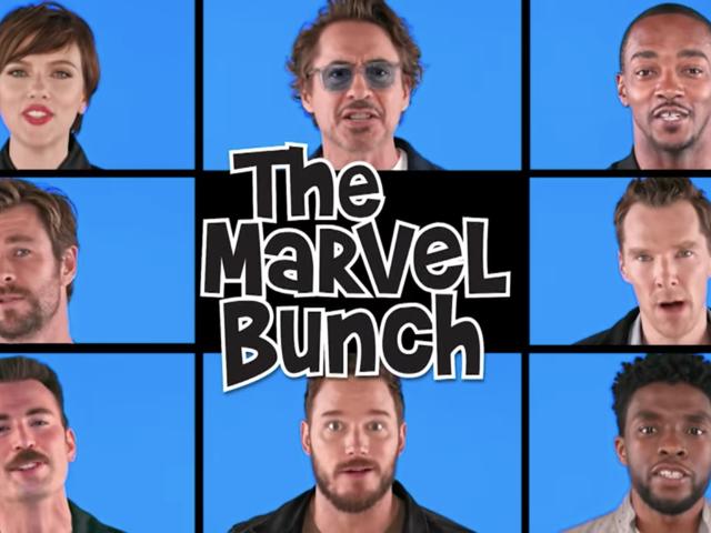 Jimmy Fallon got The Avengers to remake the damnBrady Bunch theme