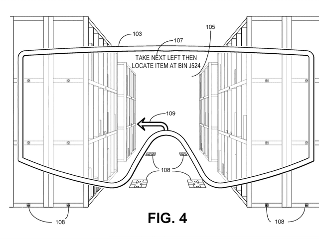 Amazon Imagines Future Employee Surveillance With Patent Application for AR Goggles