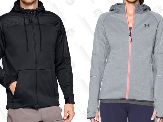 Your Sweatshirt and Your Rain Jacket Had a Baby, and It's the Under Armour Swacket - Now 25% Off