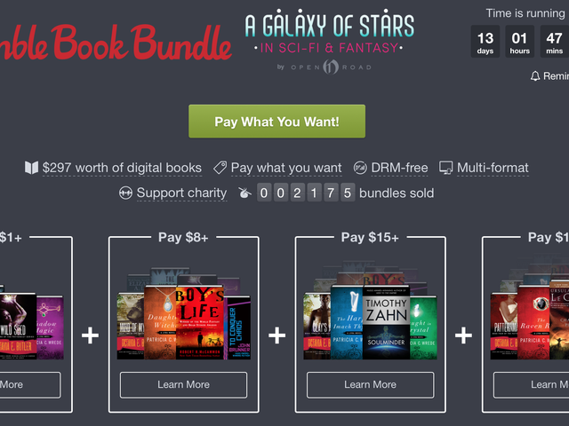 Name Your Own Price For Up to 26 Sci-Fi and Fantasy Ebooks, Courtesy of Humble