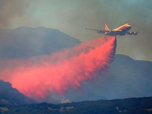 CALFIRE found a new use for Cherry Kool Aid