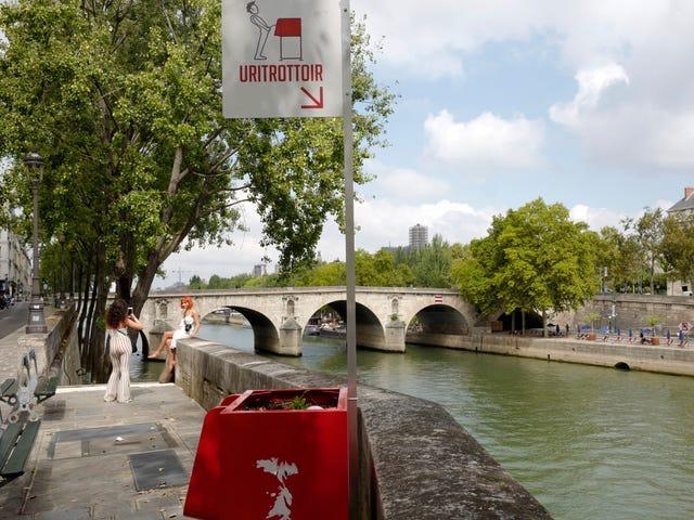 Paris Seeks to Curb Rampant Outdoor Peeing With Sidewalk Urinals