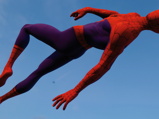 The Into the Spider-Verse Costume in Spider-Man PS4 Is Breaking My Brain, in a Good Way