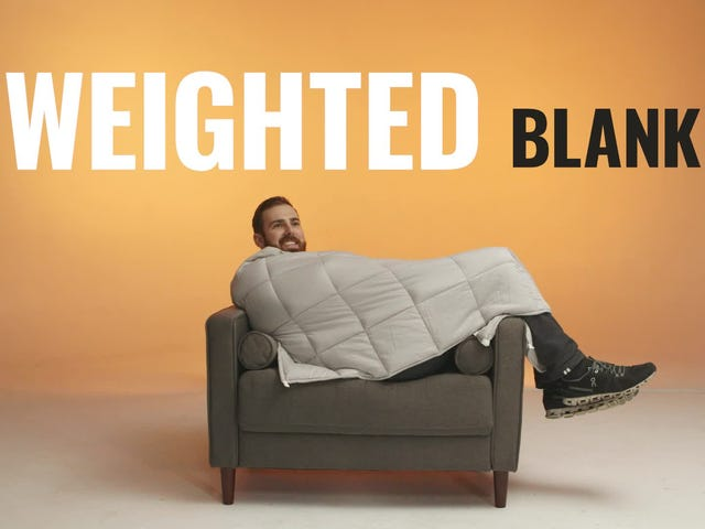 Decompress Under a 15 Pound Weighted Blanket, Now Under $100 For the First Time