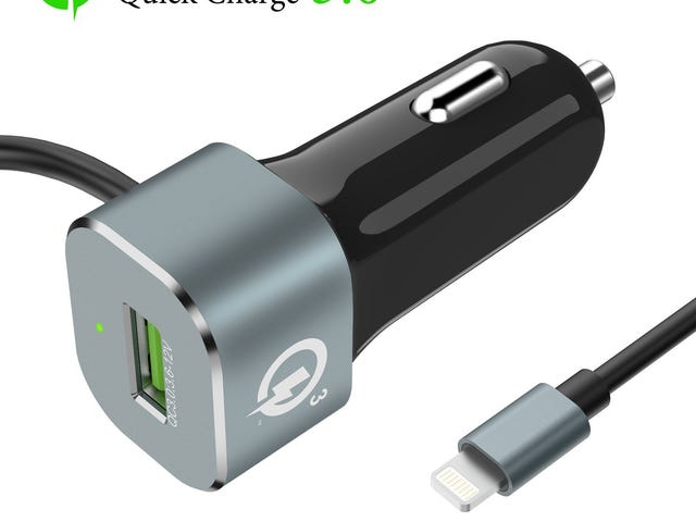 ALCLAP 5.4A/30W 2-Port Rapid Car Charger Adapter with [Apple MFi Certified] $11.18