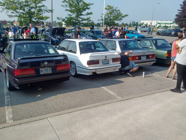 Just a bunch of BMWs doing BMW stuff.