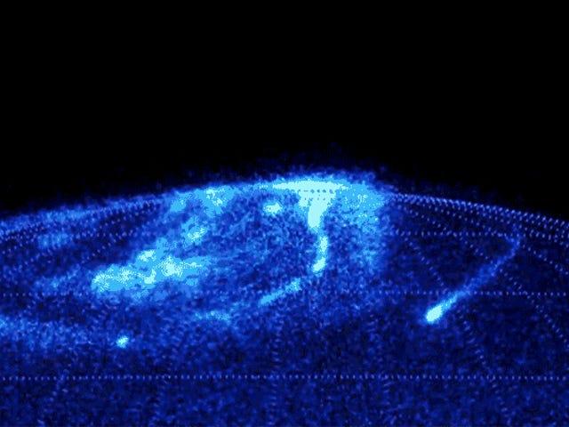Jupiter nordlys ser helt utrolig ut