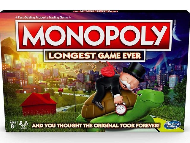Si creías que jugar a Monopoly tomaba mucho tiempo, Hasbro tiene una sorpresa