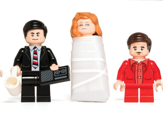 Algunas minifiguras de Lego <i>Twin Peaks</i>