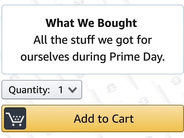 The Stuff We Bought For Ourselves On Prime Day