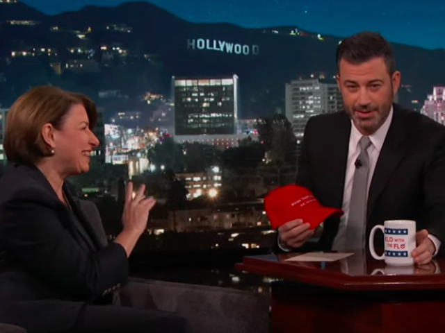 Jimmy Kimmel spins the Democratic presidential candidate guest wheel, lands on Amy Klobuchar