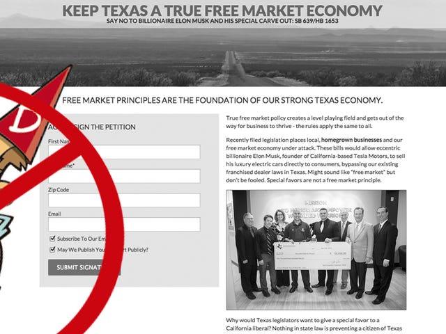The Texas Automobile Dealers Association myśli, że jesteś głupim idiotą