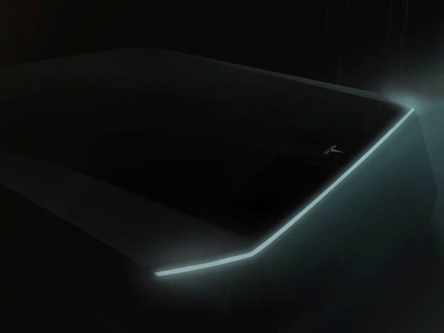 Elon Musk introdujo un teaser del camión de Tesla en la presentación del Modelo Y