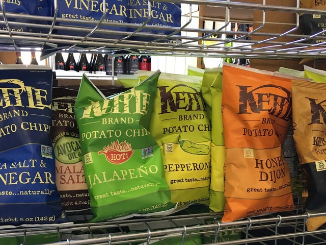 Kettle Chips Flavours, Peringkat