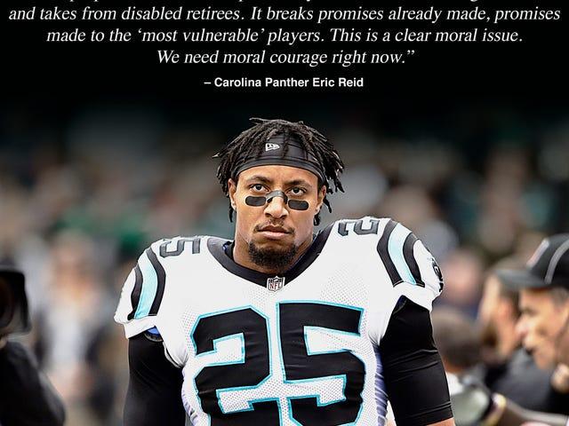 Eric Reid cho biết NFL đang cố gắng vặn vẹo những người chơi cũ bị vô hiệu hóa trong Thỏa thuận thương lượng tập thể mới