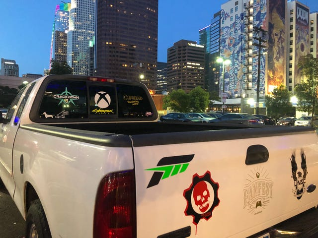 Whoever owns this truck is really into Xbox!