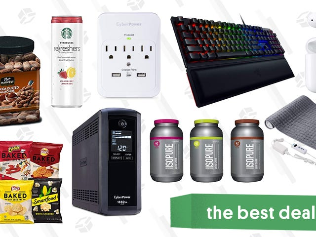 Monday's Best Deals: Groceries, CyberPower Gold Box, Heating Pads, and More