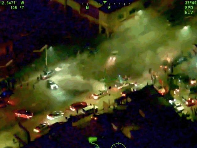 Şüpheli Kamu Sokaklarında Stunted Olarak California Polis Helikopteri'nde Parlayan Lazer İçin Tutuklandı