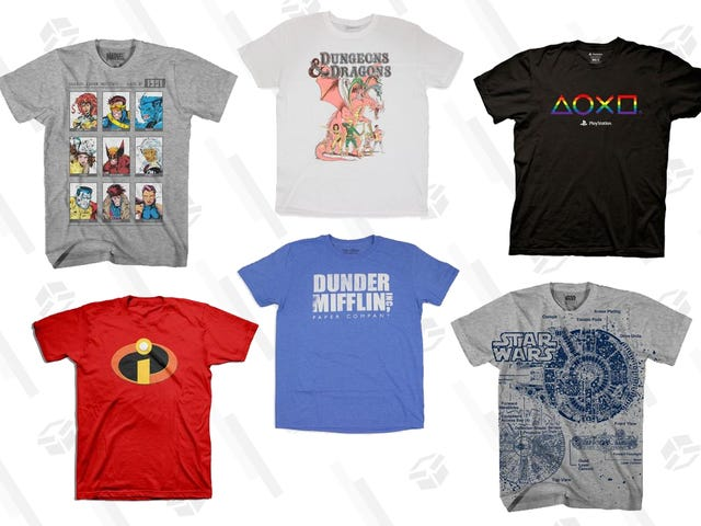 Buy Two Nerdy Shirts for $10 During This Awesome Gamestop Sale