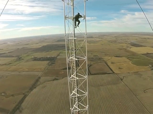 Climbing a 1,500-Foot Radio Tower Without Safety Gear Is Stupid for So Many Reasons