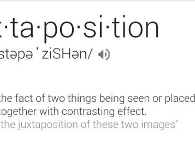 Monday News Clapback: Word of the Day is JUXTAPOSITION