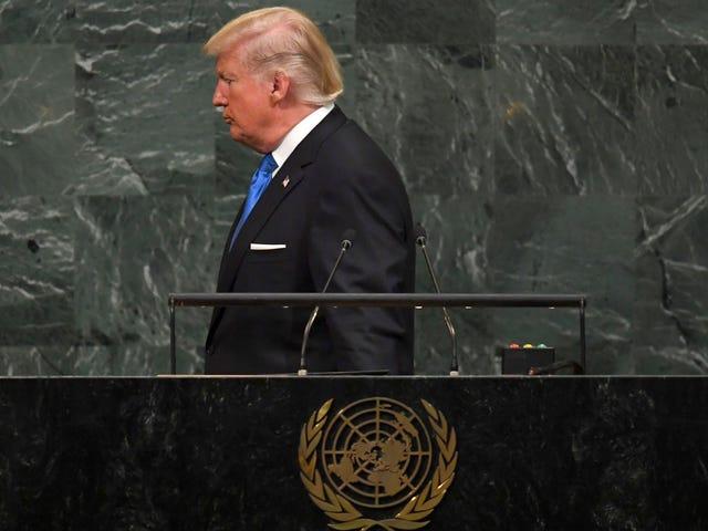 """Η αλήθεια απειλεί να """"καταστρέψει εντελώς τη Βόρεια Κορέα"""", καλεί τον Kim Jong-un """"Πυραυλό άνθρωπο"""" στο ΟΗΕ <em></em>"""