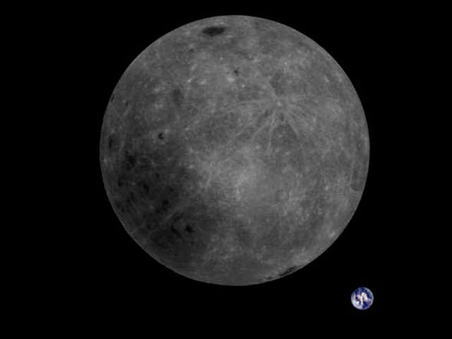 Chinese Satellite Snaps Rare Pic of Lunar Far Side and Earth Together