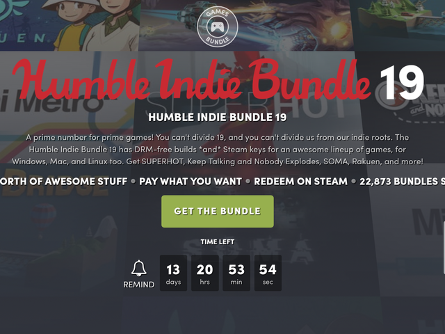 It's Time For a Good, Old-Fashioned Humble Indie Bundle