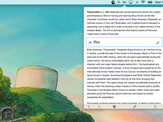 Qwiki for Mac Lets You Search and Read Wikipedia Directly From Your Menu Bar