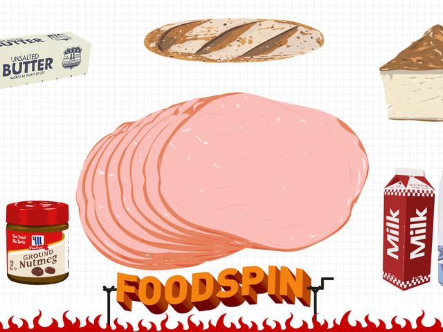 Làm một chiếc bánh Sandwich Ham, nhúng nó vào nước sốt kem và gọi nó là bánh mỳ kẹp thịt