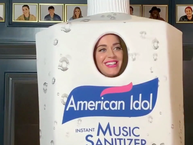 Katy Perry Gives Earnest Career Advice While Dressed as Hand Sanitizer