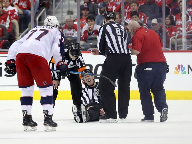 NHL Linesman Can't Stop Getting Gruesomely Injured