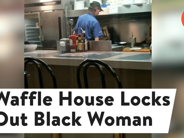 """<a href=""""https://splinternews.com/black-woman-claims-discrimination-after-being-locked-ou-1825655682"""" data-id="""""""" onClick=""""window.ga('send', 'event', 'Permalink page click', 'Permalink page click - post header', 'standard');"""">Black Woman Claims Discrimination After Being Locked Out of Waffle House<em></em></a>"""