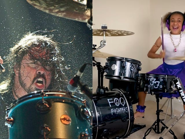 Dave Grohl escalates drum battle with 10-year old Nandi Bushell by writing her a theme song
