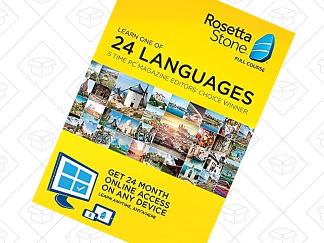 Finally Learn Another Language With This Rosetta Stone Gold Box