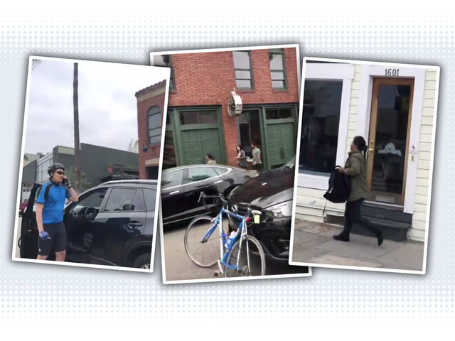 Cyclist Finds Wife's Stolen Car In Traffic As Driver Runs Away In Panic